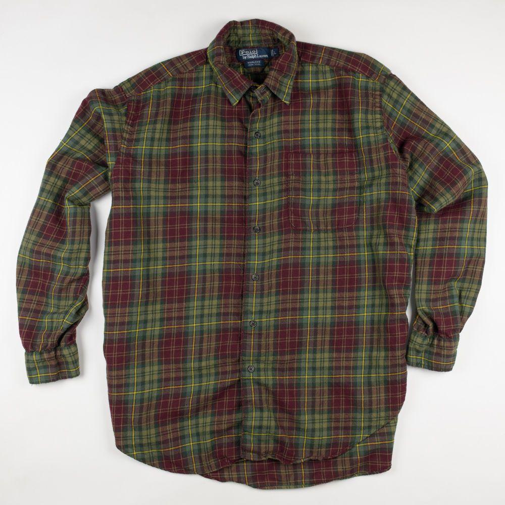 Polo Ralph Lauren Plaid Blake Casual Dress Shirt Large Button Down
