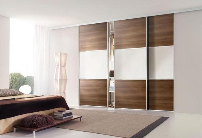 Шкафы-купе в спальню — фото 110 идей, угловые и встроенные шкафы-купе