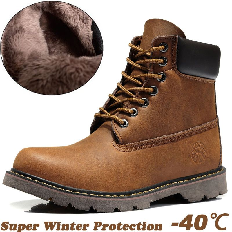 Mens Leather Winter Boots - Cr Boot