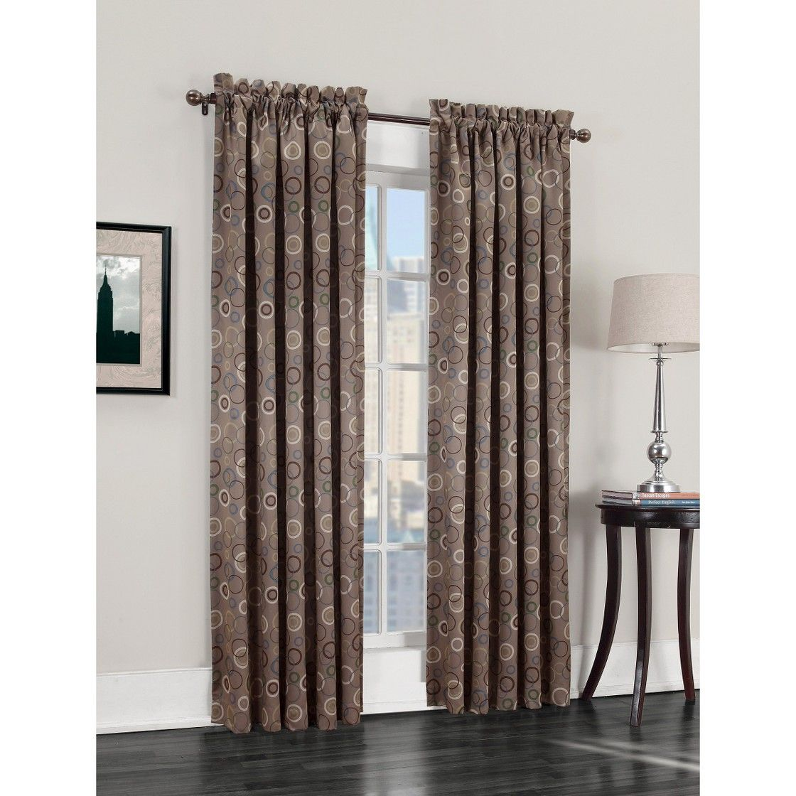 Sun Zero Capella Room Darkening Circles Curtain Panel