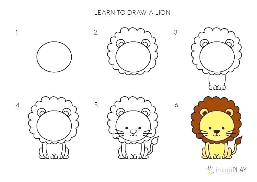 How 2 Draw A Lion Prodigalpress Co Easy Drawings For Kids Drawing Images For Kids Easy Drawing Images