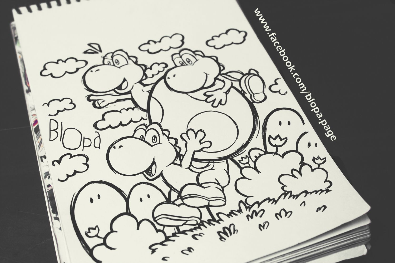 Yoshi Sketch ^^ www.facebook.com/blopa.page
