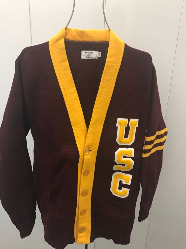 Nwot vintage (25 years) usc southern california letterman sweater ...