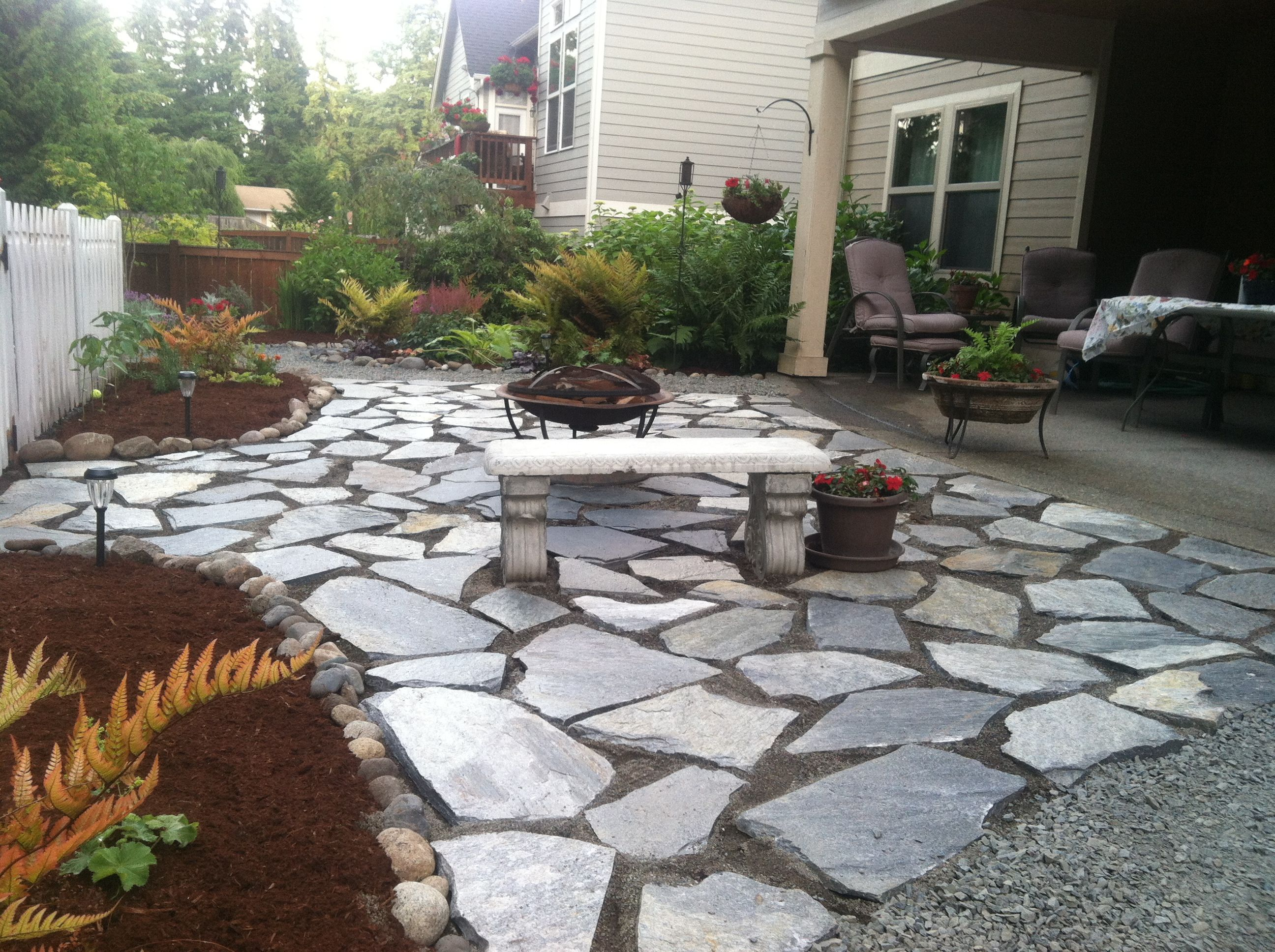 Our patio Cowboy coffee flagstone