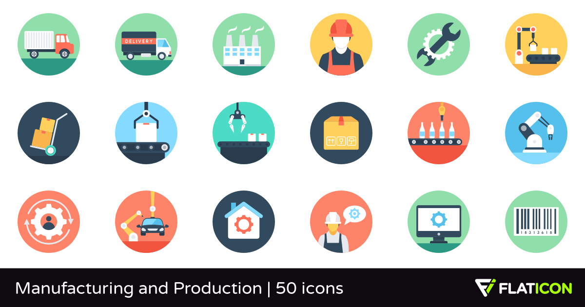 50 free vector icons of Manufacturing and Production