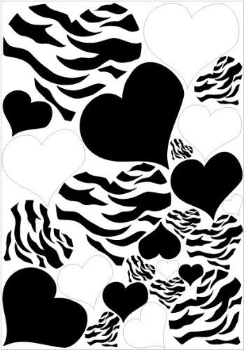 Zebra Print, Black And PURPLE Heart Wall Stickers,decals, Graphics     Continue To The Product At The Image Link. Part 45