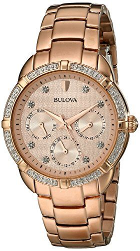 bad586c0f27 Bulova Womens 98R178 MultiFunction Dial Watch   More info could be found at  the image url