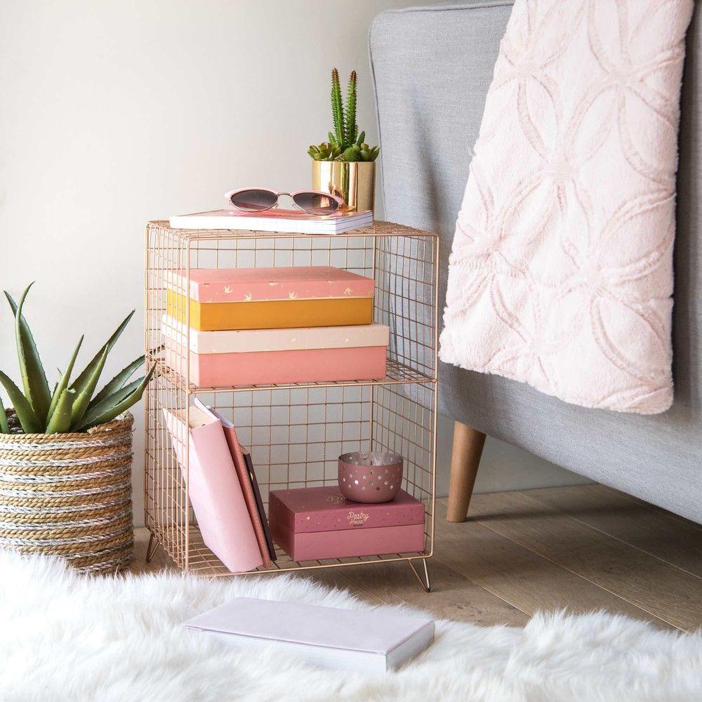 petit meuble filaire en mtal cuivr sur maisons du monde piochez parmi nos meubles et objets dco et faites le plein dinspiration