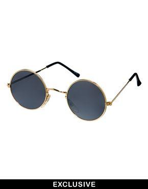 aeb9ef00de09c Reclaimed Vintage Round Sunglasses