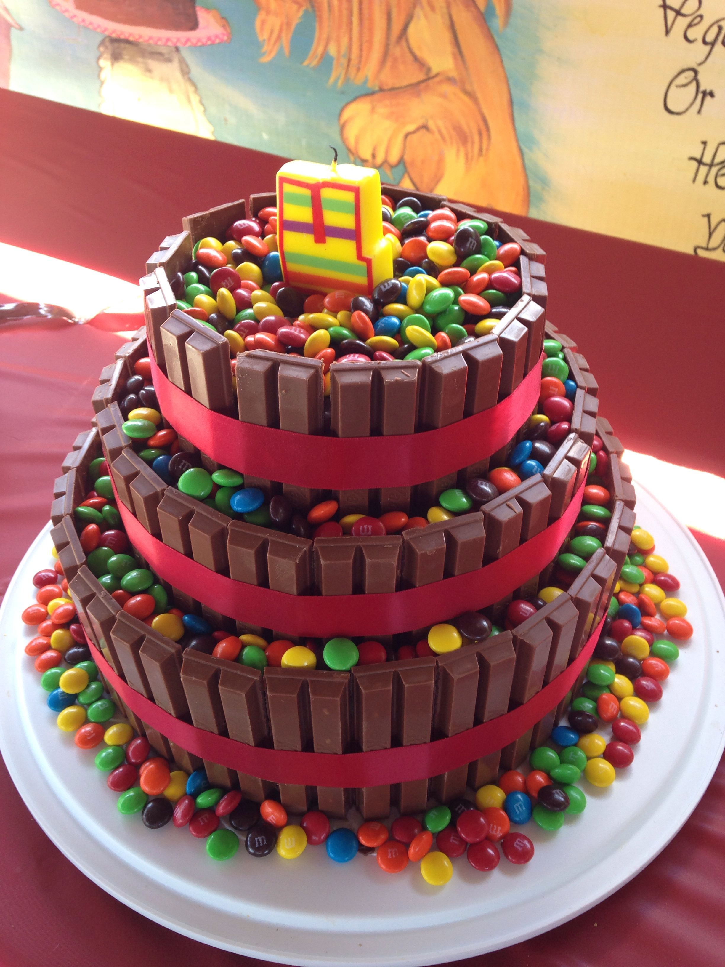 The 3 Tier Kit Kat Cake I Made For My Daughters 4th Birthday