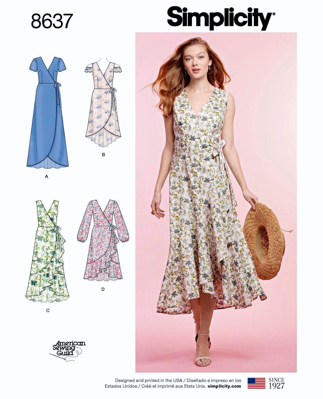 adecf9698c Sewing Pattern Misses Wrap Dress Pattern
