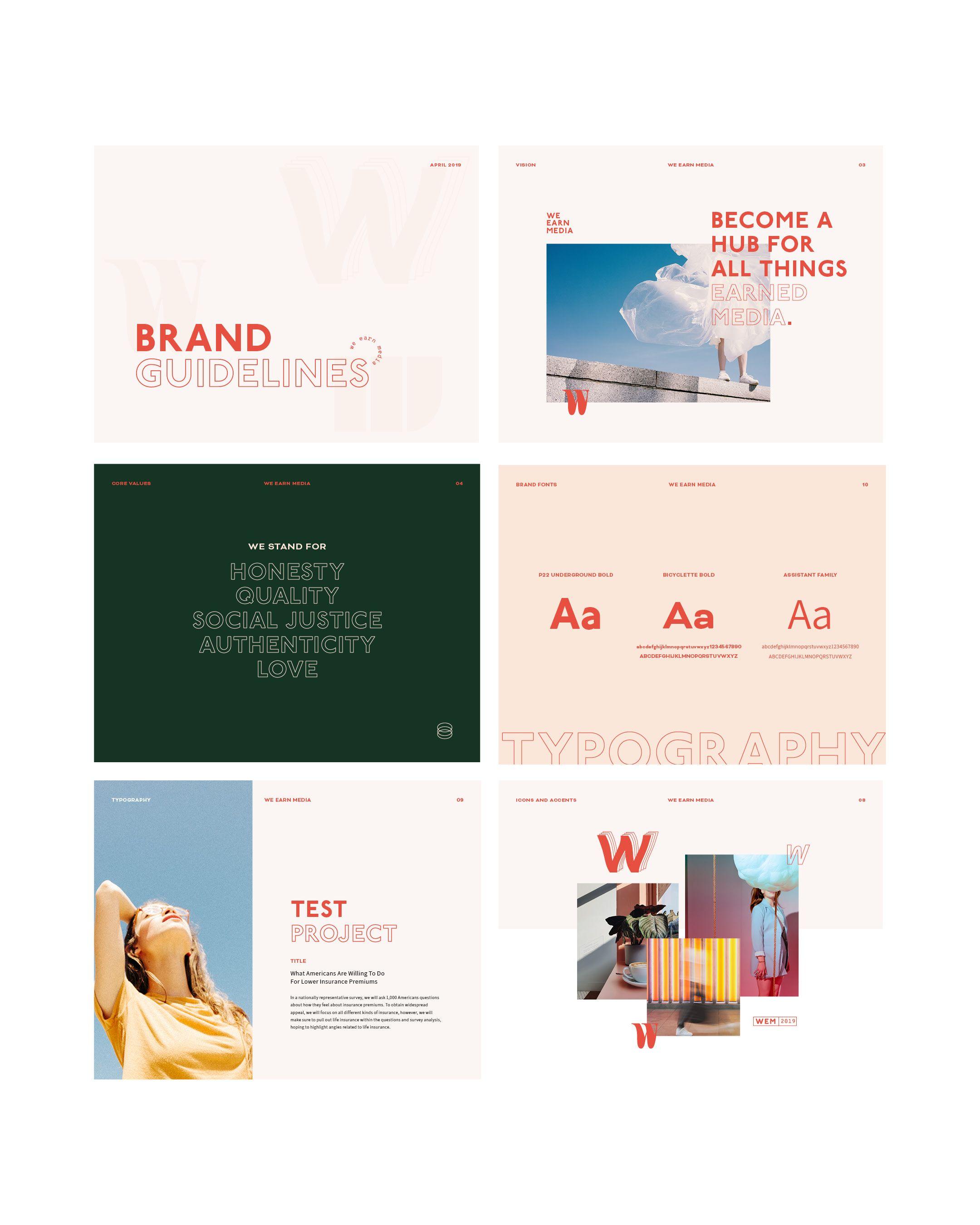 We Earn Media Branding Guidelines Bridge Bloom Brand Guidelines Design Brand Guidelines Graphic Design Branding