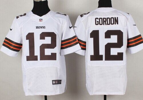 5920f5bd9c2 Nike Cleveland Browns  12 Josh Gordon White Elite Jersey