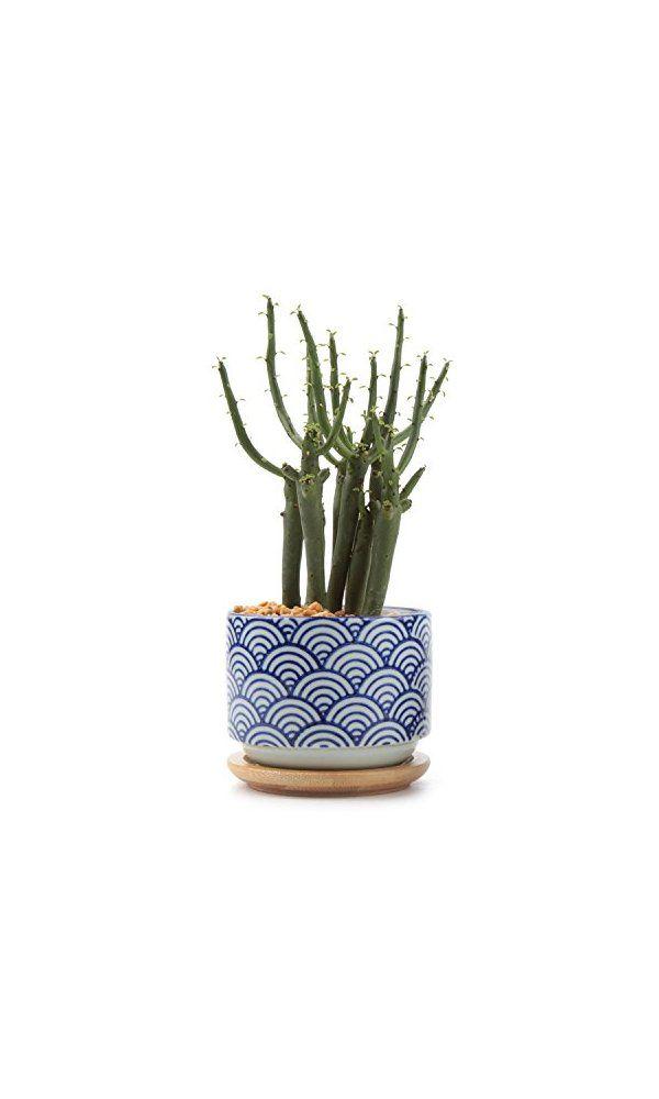 T4u 3 Inch Ceramic Anese Style Serial No Succulent Plant Pot Cactus