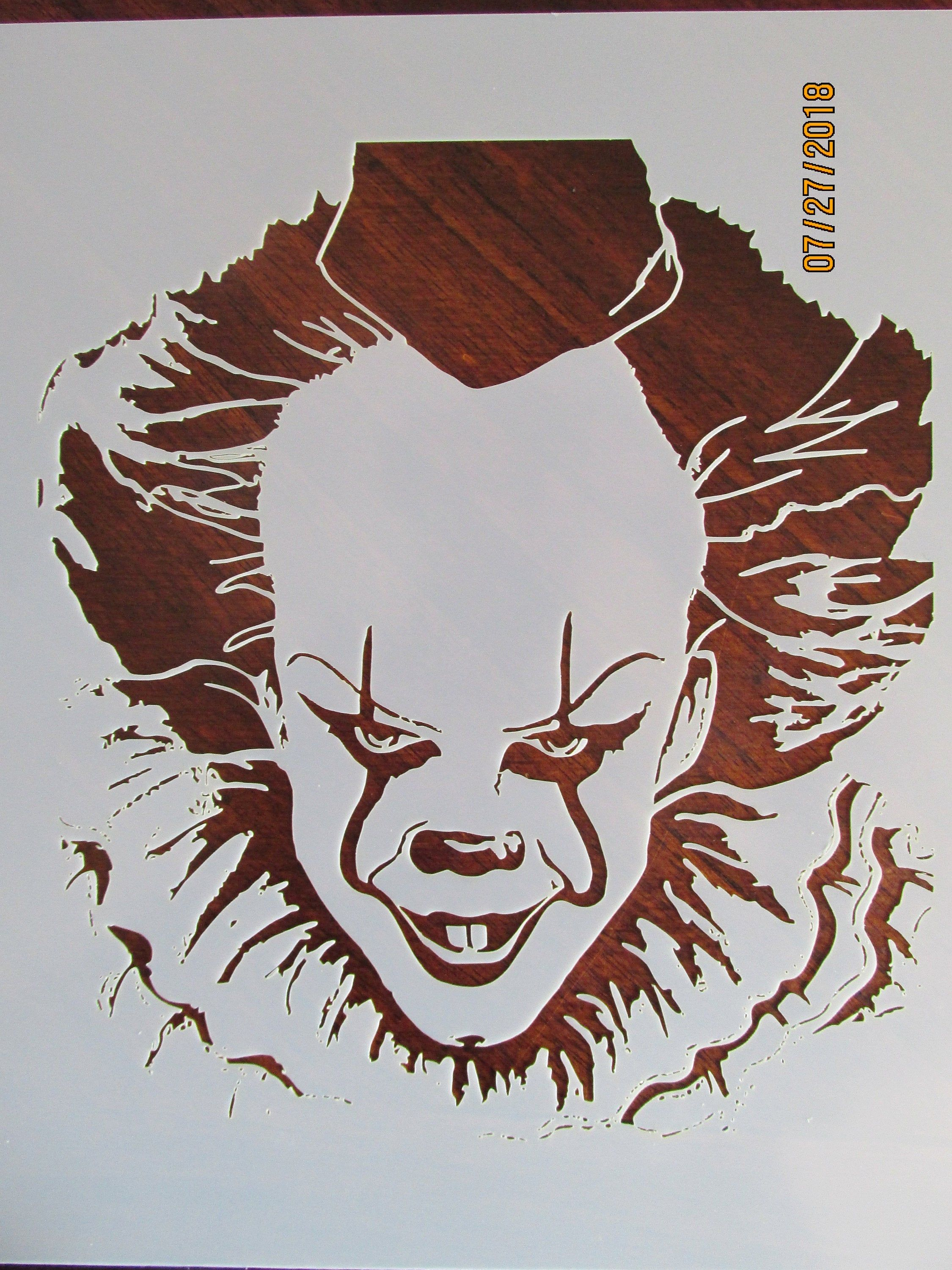 It Pennywise Evil Clown Stencil Template Reusable 10 Mil Mylar