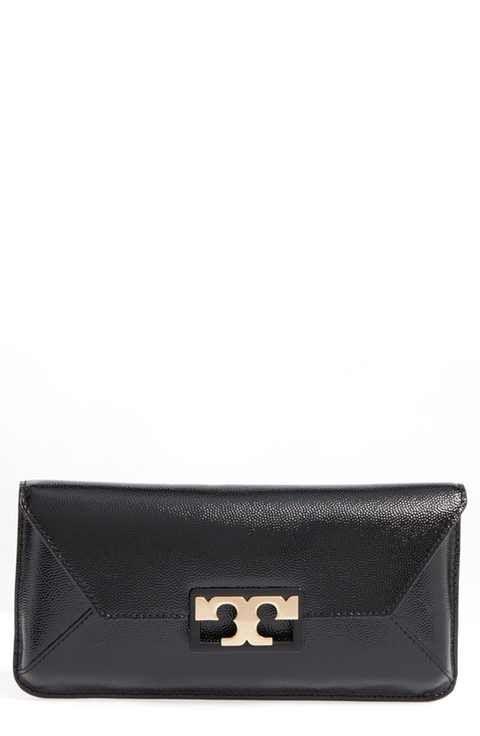5b5dc180ba5c Tory Burch Gigi Caviar Leather Clutch