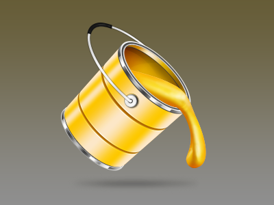 Dribbble Paint Bucket By Dinesh Naik