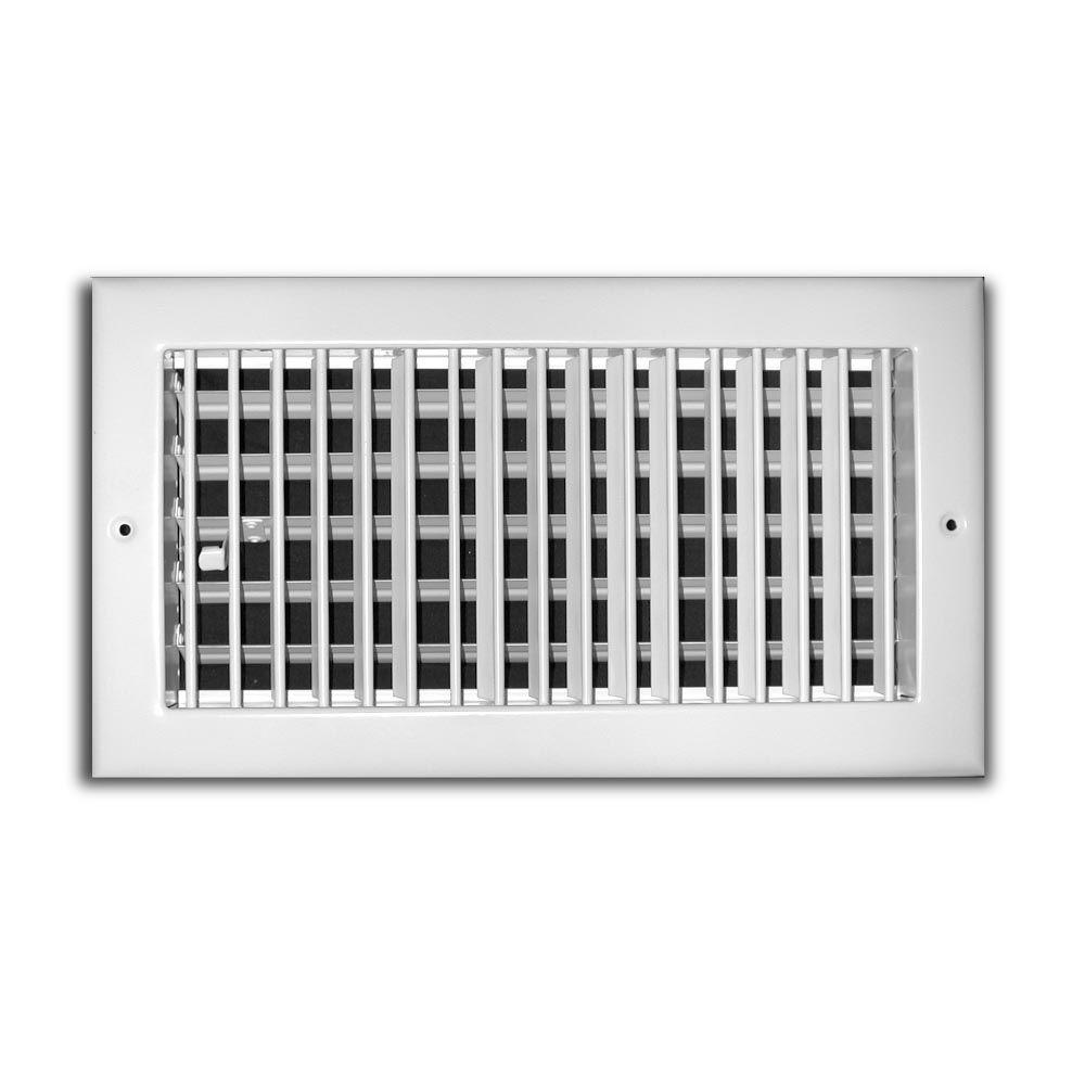 12 In X 4 In 1 Way Aluminum Adjustable Wall Ceiling Register White Aluminum Wall Wall Wall Registers