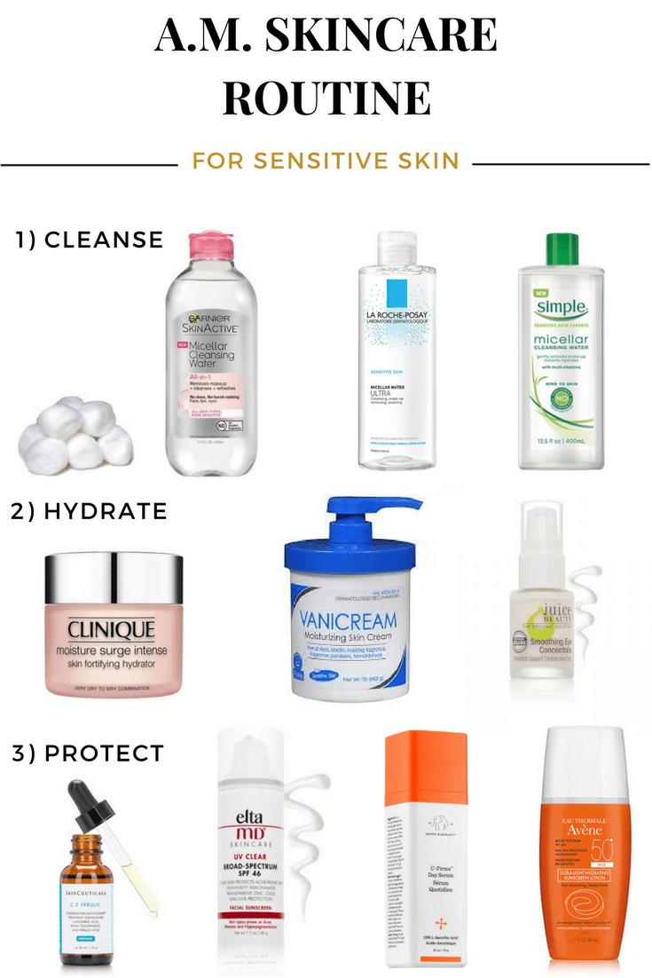 Morning Skincare Routine For Sensitive Skin Sensitive Skin Care Routine Morning Skin Care Routine Sensitive Skin Care