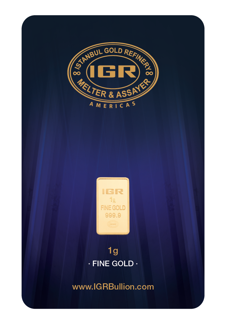 2 X 1 Gram 999 9 24k Istanbul Gold Refinery Bar Igr In Ay