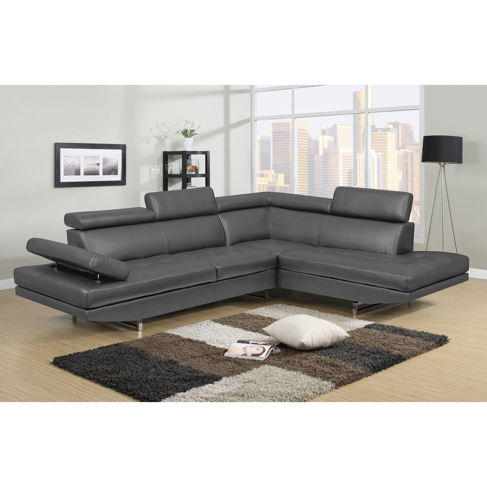 Nh Designs Logan Collection Right Facing Sectional Sofa Sofa