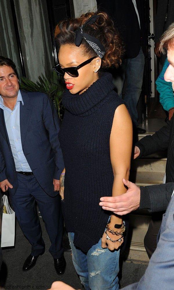 Rihanna Bandana Style 2 Moda Pinterest Bandana