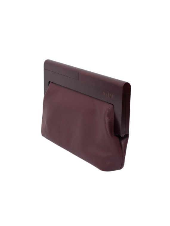 da026a64bd03 Leather and wood clutch bag Wood detail leather by 1stAtribut ...
