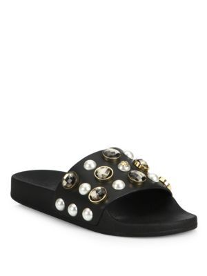 094499b6d1a1a TORY BURCH Vail Jeweled Leather Slides.  toryburch  shoes  slides ...