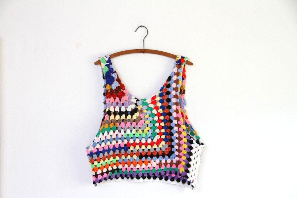 Grungy knit crochet tank | Pinterest | Grunge, Blusas de crochet y ...