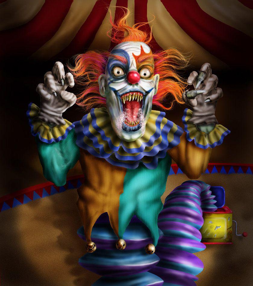 картинка клоуна злобного гения отразилось