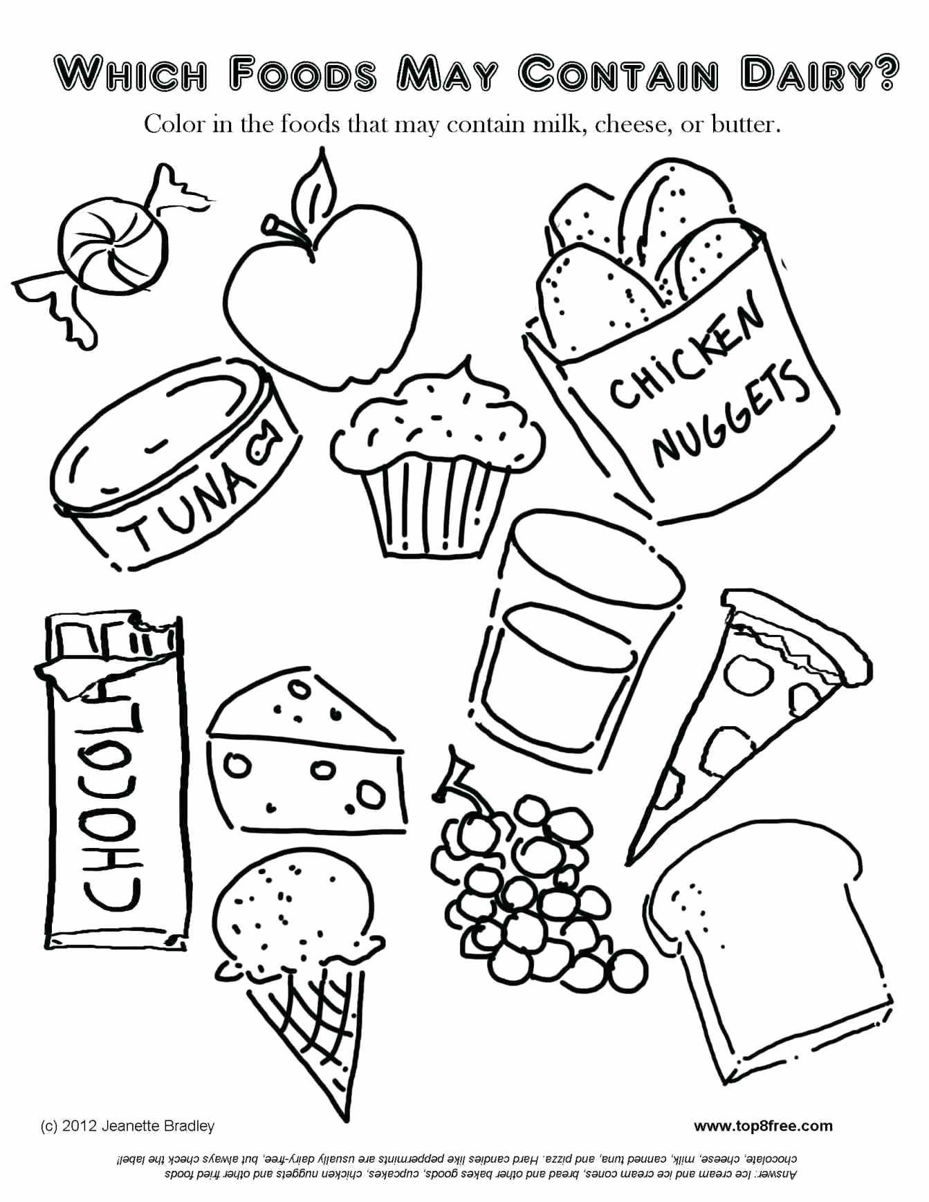 Kindergarten Food Worksheets