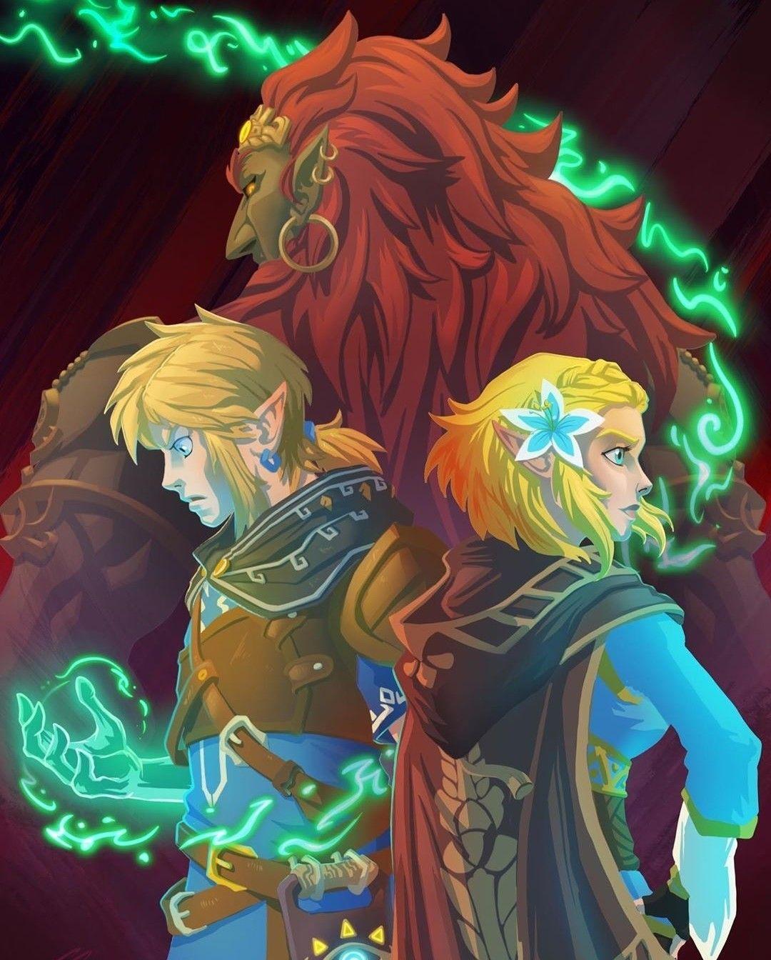 Legend Of Zelda Botw Sequel Inspired Art Link Princess Zelda Ganondorf Jjnicolart Legend Of Zelda Breath Of The Wild 2 Legend Of Zelda Breath