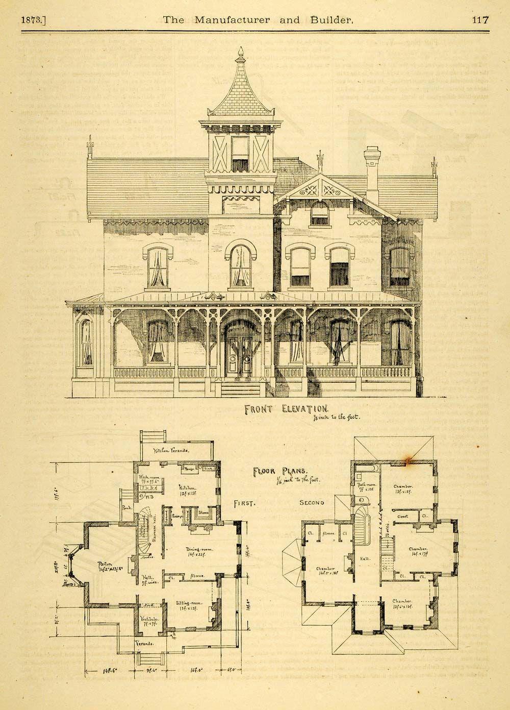 Vintage victorian house plans print home architectural design floor also rh pinterest