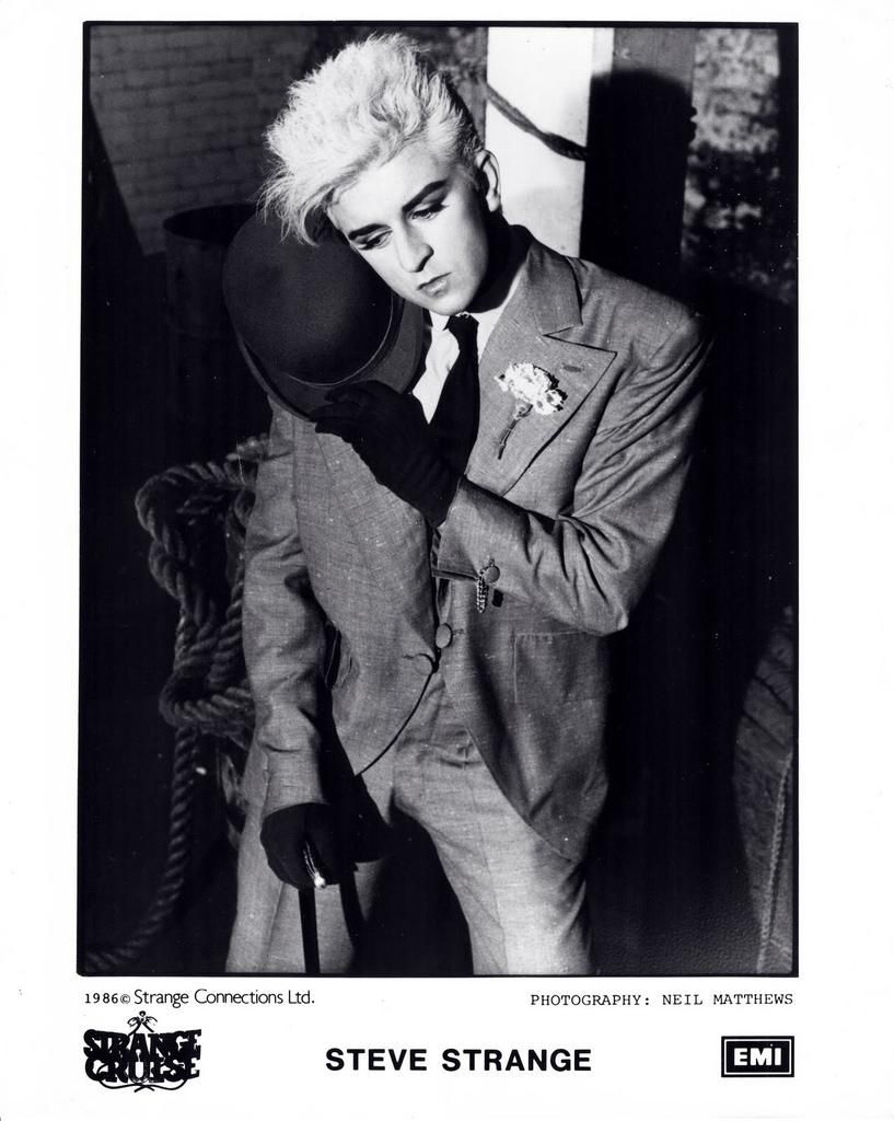 Steve Strange - Promo pic for The Strange Cruise album (1986)