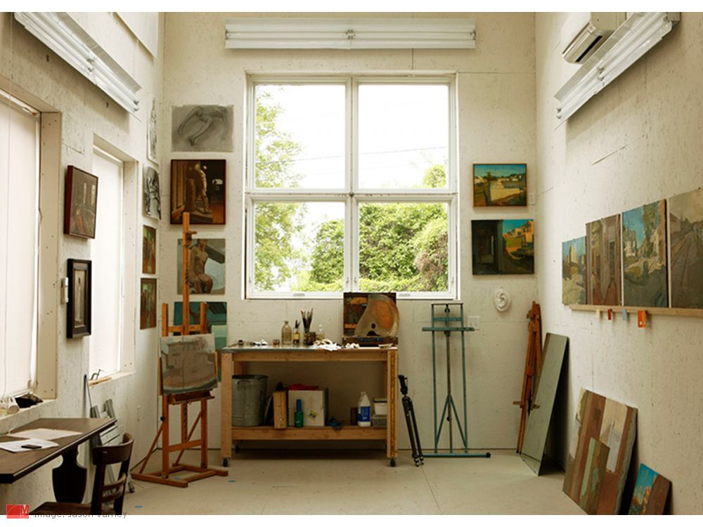 His And Hers Urban Work Play Creative Space And Art Studio