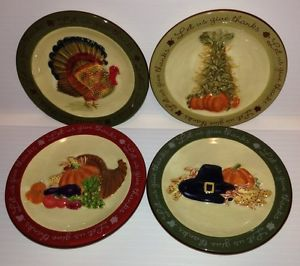MWW-Market-Decorative-Mini-Plates-Let-us-Give-Thanks-Thanksgiving-Set-of-4 & CIVBMP 4.5