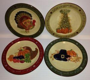 MWW-Market-Decorative-Mini-Plates-Let-us-Give-Thanks-Thanksgiving-Set-of-4 & MWW Market Decorative Mini Plates - Let us Give Thanks Thanksgiving ...