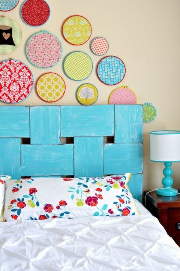 diy projekt mit bett kopfteil bunte dekoration | Zimmer | Pinterest ...