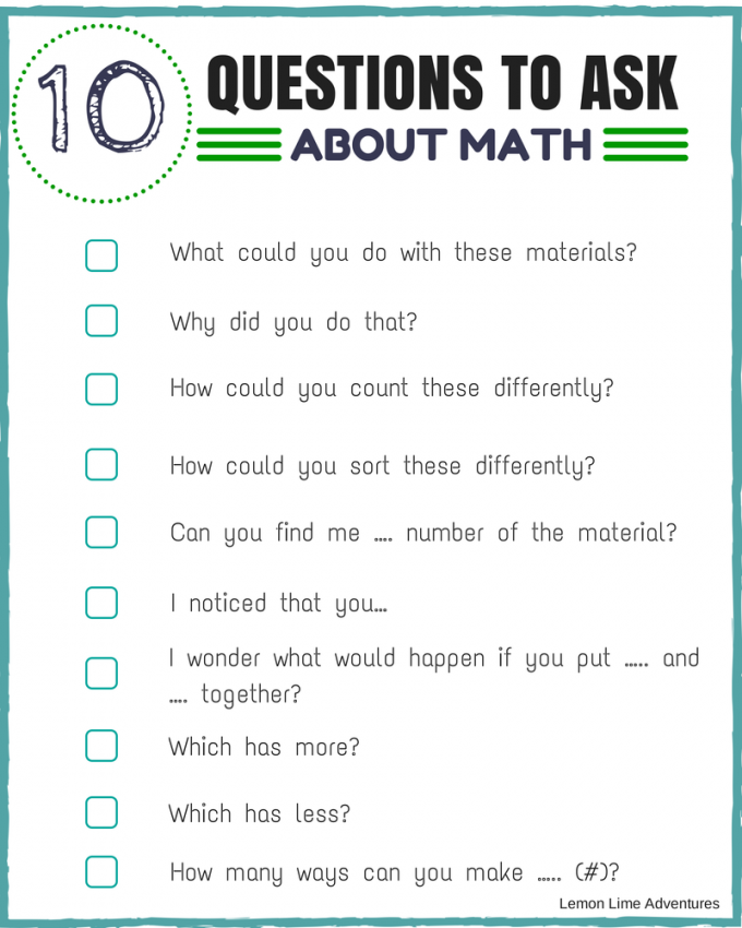 Worksheets Maths Question Simple Pics 10 questions to encourage math thinking looking for simple ways with your learner these are