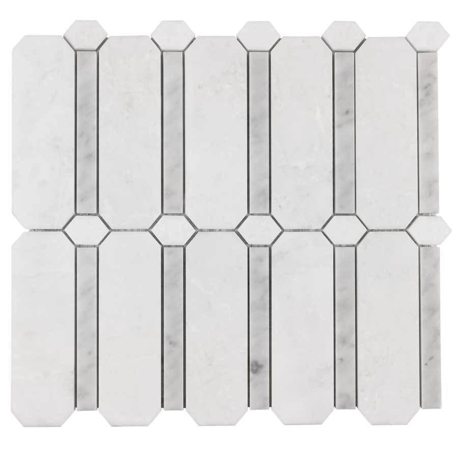 Elida Ceramica Savy Light Geo 12 In X 12 In Marble Mosaic