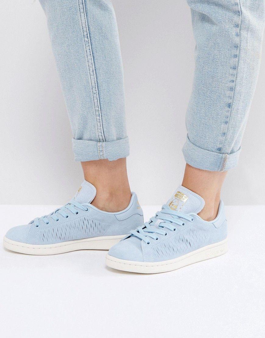size 40 76930 46425 ADIDAS ORIGINALS ADIDAS ORIGINALS EASY BLUE STAN SMITH SNEAKERS - BLUE.  adidasoriginals shoes