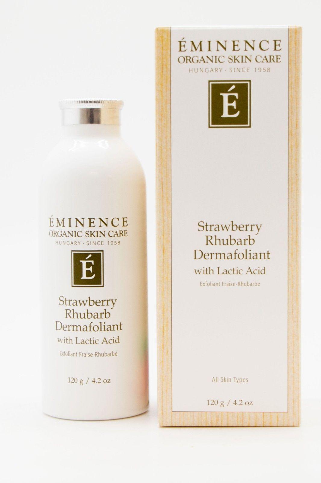31 22 Eminence Strawberry Rhubarb Dermafoliant 4 2oz New Eminence Strawberry Rhubarb Dermafoliant 4 2oz Strawberry Rhubarb Rhubarb Organic Care