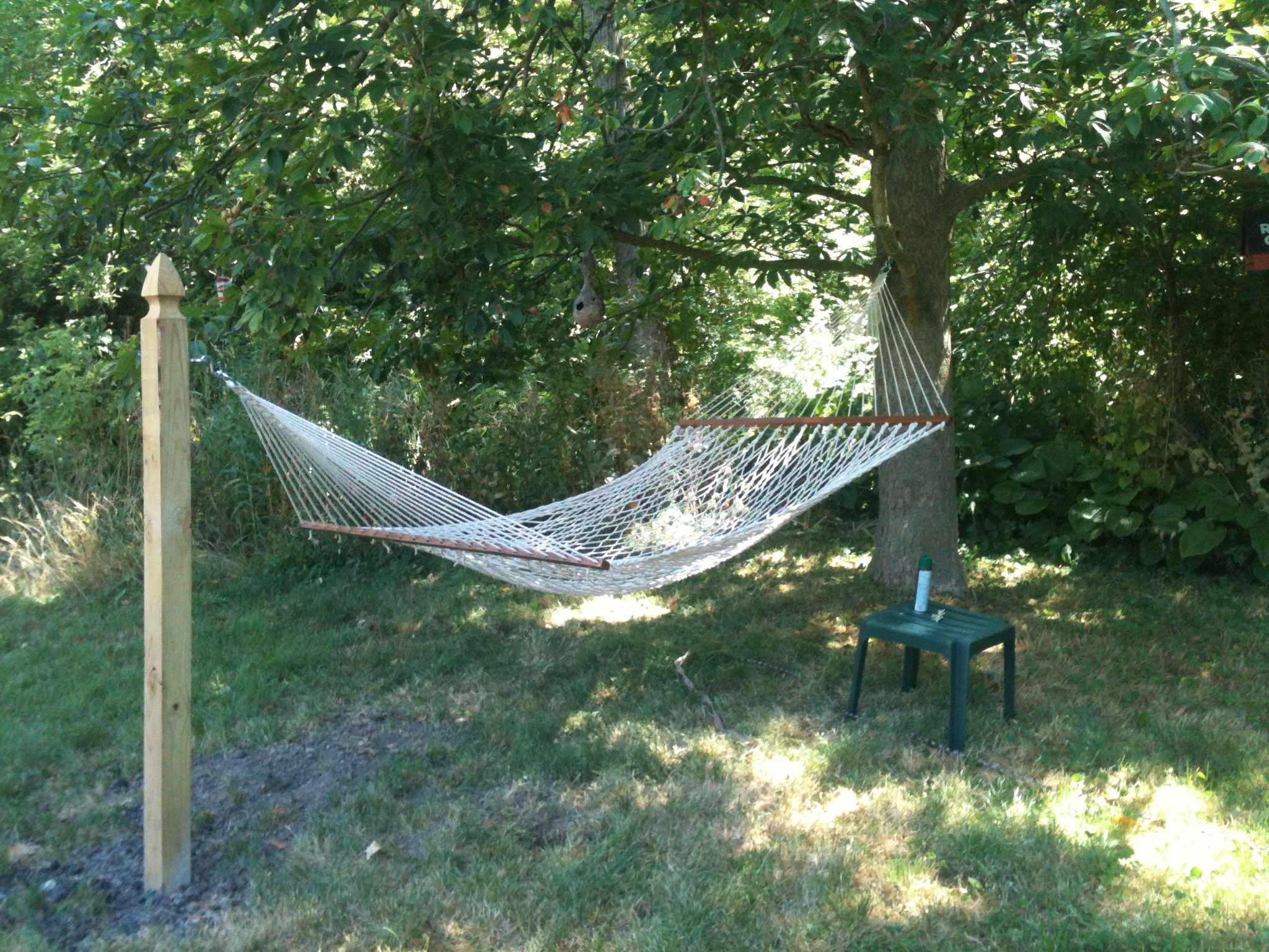 how to hang a hammock without a tree - Google Search | hammock ...