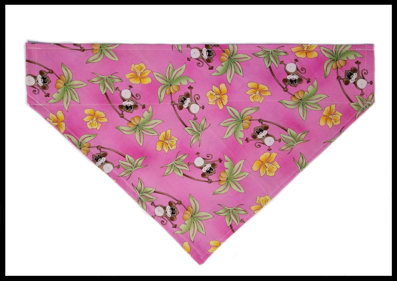 Large Pink Tropical Monkey Palm Tree Beach Fun And Sun
