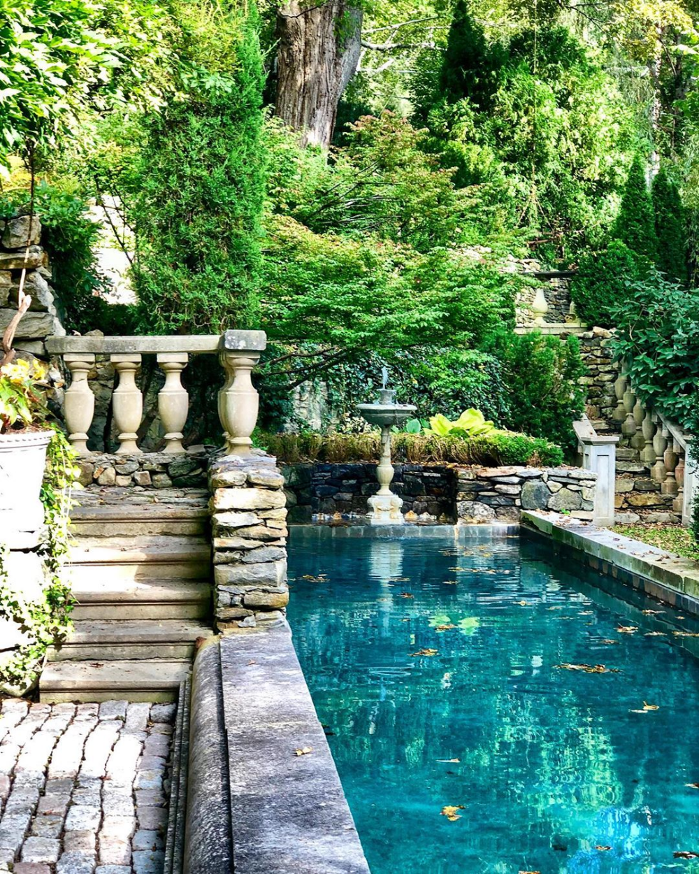 Michael Trapp Pool Photo By Stacey Bewkes Quintessence Backyard Pool Small Backyard Pools Pool Landscaping