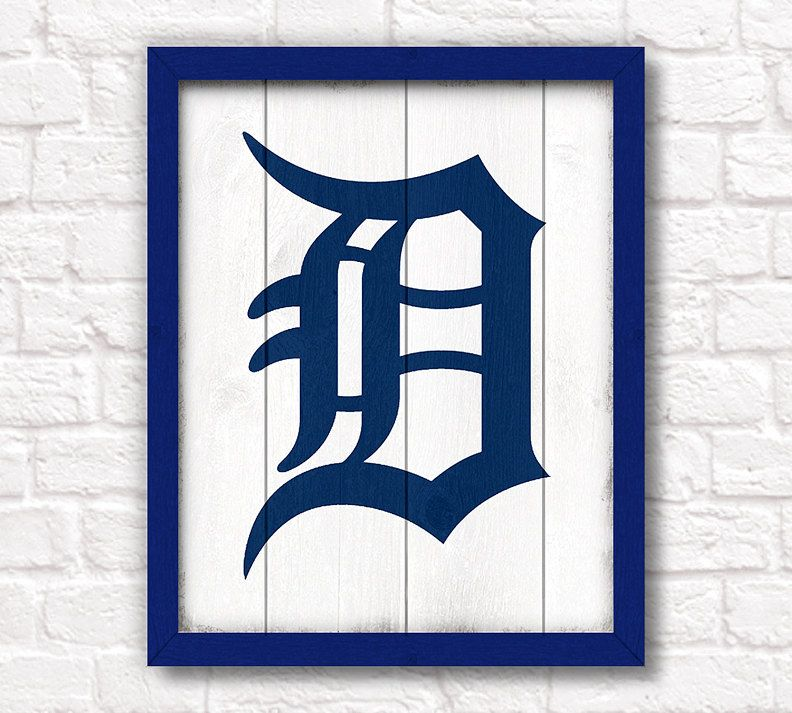 Detroit Tigers rustic home decor 16x20 handmade wood sign - Detroit ...
