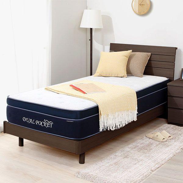 ベッドフレーム マットレスセット アッシュ2 S Db Lbr デュアルポケット2 インテリア 家具 ベッド ニトリ ベッド