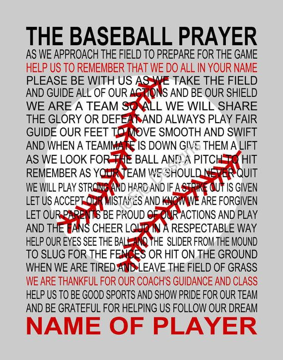 Photo of The Baseball Prayer 2 personalized with Baseball Baseball | Etsy