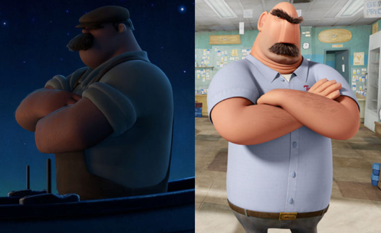 "DAE think the dad from Pixar's new short, ""La Luna"" looks like Flint's dad from Cloudy With a Chance of Meatballs? - Imgur"