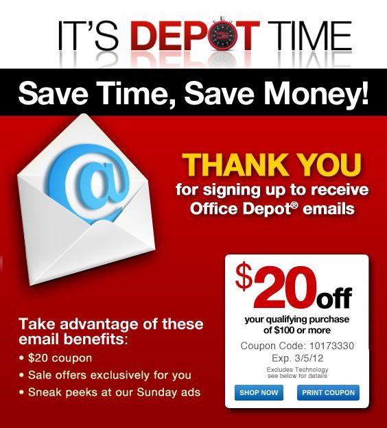 Office Depot Coupon Office Depot Coupons Saving Money